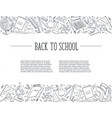 back to school composition vector image vector image