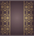 background vintage baroque with flowers vector image