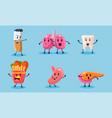 bad habits set destruction human organs vector image vector image