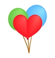 Balloons isometric 3d icon vector image vector image