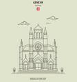 basilica our lady geneva vector image vector image