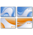 beautiful gift card set vector image vector image