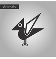 black and white style icon dinosaur vector image vector image