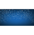 Blue social network background vector image