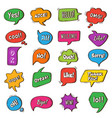 bubble talk speech round frames with phrases vector image