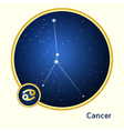 Cancer constellation vector image vector image