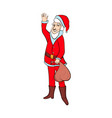 Cartoon santa claus smiling