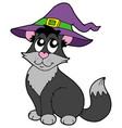 cat with hat vector image