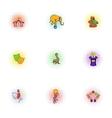 Chapiteau icons set pop-art style vector image vector image