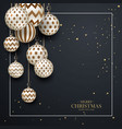 christmas brown baubles with geometric pattern vector image