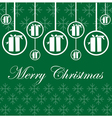 Christmas card design with gift and flakes vector image vector image