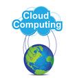 cloud computing around the world vector image