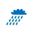 cloud with rain sign 106 vector image vector image