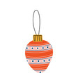 colorful bauble ball christmas tree toy new year vector image vector image