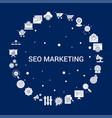 creative seo marketing icon background vector image