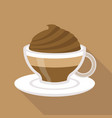 cup of coffee mocha flat design vector image