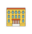 dwelling house line icon concept dwelling house vector image