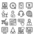 ecommerce online shopping icons set on white vector image