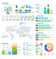 financial and marketing statistic graphic with vector image vector image