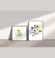 floral bouquets elements watercolor hand-painted vector image vector image