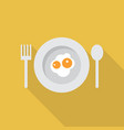 fried egg icon set of great flat icons design vector image vector image