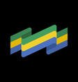 gabon flag ribbon isolated gabonese republic tape vector image vector image