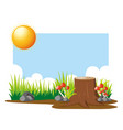 garden scene at daytime vector image vector image