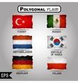 geometric polygonal world flag collection vector image vector image