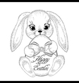 Hand drawn easter rabbit with paschal egg vector image vector image