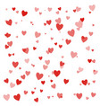 happy valentines day background with hearts eps10 vector image vector image