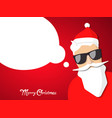 hipster santa claus with cool beard and glasses vector image
