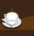 hot espresso coffee cafe with realistic mug vector image