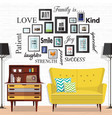 ideas for small living spaces vector image