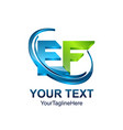 initial letter ef logo template colored green vector image vector image