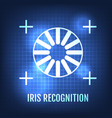 iris recognition concept icon eye identification vector image