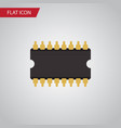 isolated cpu flat icon microprocessor vector image