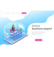 isometric flat landing page template for vector image vector image