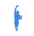 leadership concept standing man human with arm up vector image