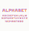 linear font and alphabet vector image vector image