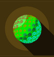 little planet icon flat style vector image vector image