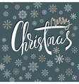 Merry Christmas lettering design with gold and vector image vector image