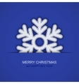 modern christmas snowflakes on blue vector image