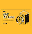 money laundering isometric web banner vector image