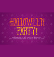 on purple background halloween style vector image vector image