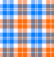 orange and blue light tartan seamless pattern vector image vector image