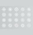 paper cut snowflakes white 3d christmas design vector image