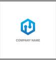 polygon technology company logo vector image vector image