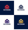 real estate house sale price tag abstract logo vector image