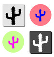 saguaro cactus flat icon vector image