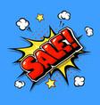 Sale web banner pop art comic sale bang
